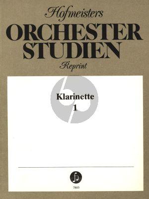 Orchesterstudien Vol. 1 Klarinette (herausgeber Edmund Heyneck, Hans Roscher, Willy Schreinicke)