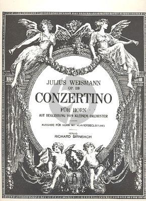 Weismann Concertino Op.118 Horn und kleinem Orchester (Klavierauszug)