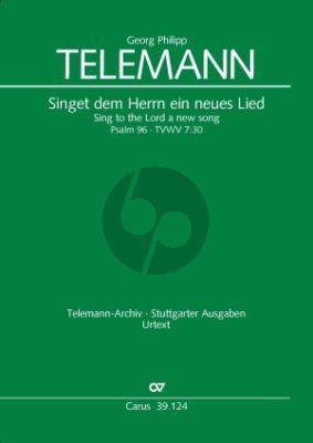 Singet dem Herrn ein neues Lied TWV 7:30 SATB soli-SATB- Str.-Bc) Full Score