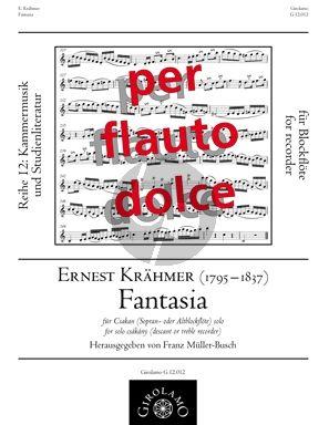 Krahmer Fantasia for Csakany Descant- or Alto Recorder
