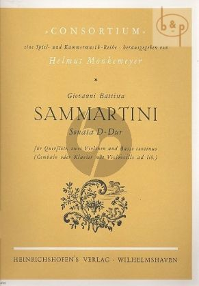 Sonata D-major (Flute- 2 Vi.-Bc)