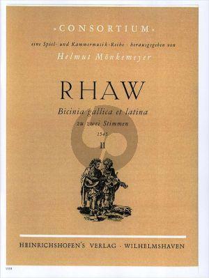 Rhaw Bicinia Gallica & Latina Vol.2 (1545) (2 Instr. a Fifth apart) (Helmut Monkemeyer) Nabestellen