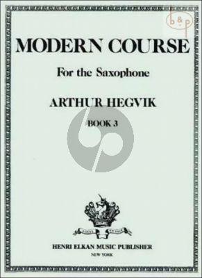 Modern Course Vol.3 Saxophone