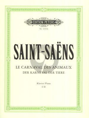 Saint Saens Carnaval des Animaux Klavierstimme I/II (Klavierpartitur)