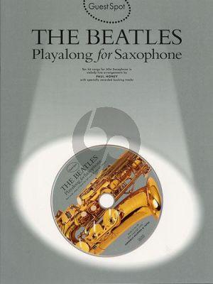 Guest Spot Beatles Playalong saxophone book-CD