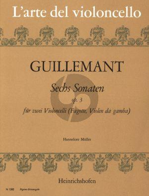 Guilmant 6 Sonaten Op. 3 2 Violoncellos (oder Fagott) (Hannelore Muller)