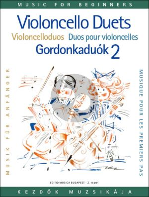 Album Violoncello Duets for Beginners Vol. 2 (edited by Arpad Pejtsik)