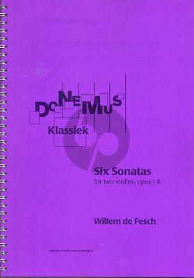 fesch 6 Sonatas Op.1A (Score) ed. Robert L.Tusler