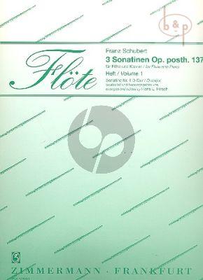 3 Sonatinen No.1 D-major D.384 Op.posth. 137 Flute and Piano