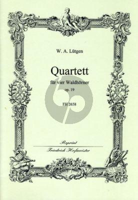 Lutgen Quartett op.19 4 Hörner (Part./St.) (Janetzky)