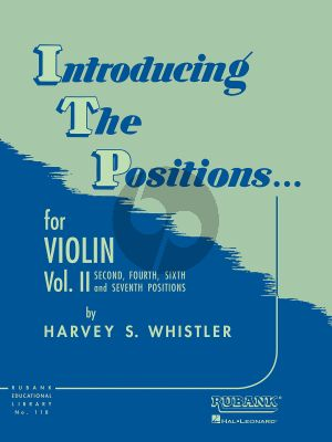 Whistler Introduction to the Positions Vol.2 Violin (Second , Fourth , Sixth and Seventh Positions)