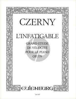 Czerny L'infatigable Grand Etude de Velocite Op.779 Piano