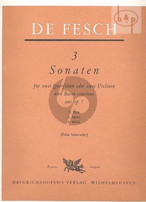 3 Sonatas from Op.7 (2 Flutes-Bc[Vc./Bsn opt.])