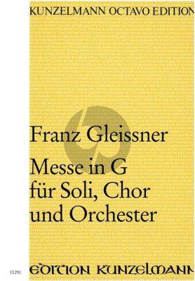 Gleissner Messe G-dur Soli-Chor-Orchester (Partitur)