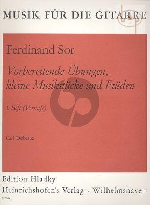 Vorbereitende Ubungen-kleine Musikstucke & Etuden) Vol.1 fur Gitarre