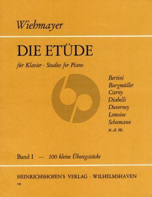 Die Etude Vol.1 Klavier (100 kleine Etuden fur Anfanger) (edited Th.Wiehmayer)
