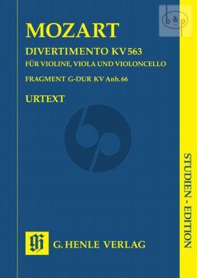 Divertimento KV 563 mit Fragment KV Anh.66 (Vi.-Va.-Vc.) (Study Score)