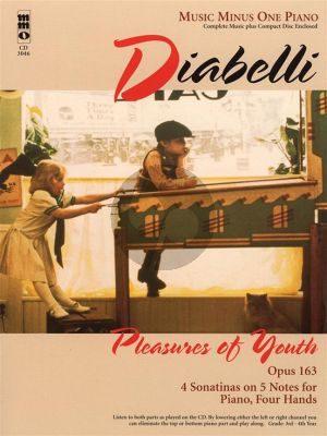 Diabelli Pleasure of Youth Op.163 - 4 Sonatinas on 5 Notes Piano 4 Hands (Bk-Cd) (MMO)