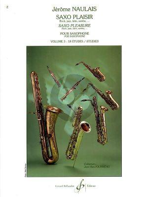 Naulais Saxo Plaisir Vol.3 18 Etudes (Gr.7 - 8)