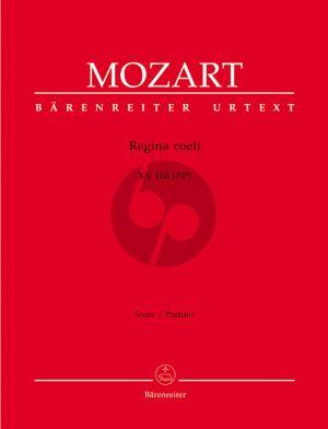 Mozart Regina coeli C-major KV 108 (74d) Sopr.-SATB-Orch. Full Score