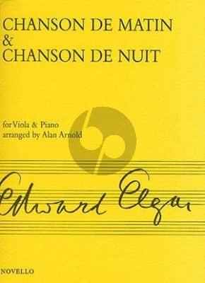 Elgar Chanson de Matin & Chanson de Nuit Op. 15 Viola and Piano (arr. Allan Arnold)