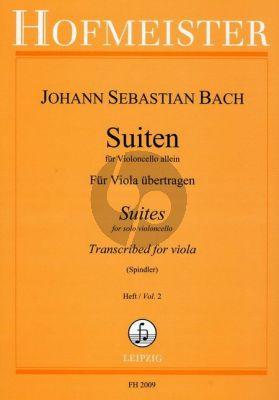 Bach 6 Suiten Vol.2 BWV 1010 - 1012 fur Viola (für Viola übertragen vo Fritz Spindler)