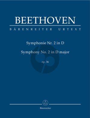 Beethoven Symphonie No.2 D-dur Op. 36 Studienpartitur (Jonathan Del Mar)