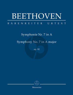 Beethoven Symphonie No. 7 A-dur Op. 92 Studienpartitur (Jonathan Del Mar)