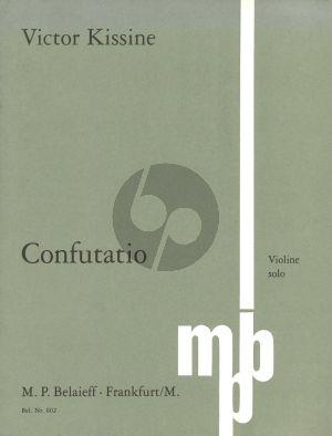 Confutatio Violine solo