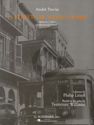 Previn A Streetcar named Desire Vocal Score (Opera in 3 acts)