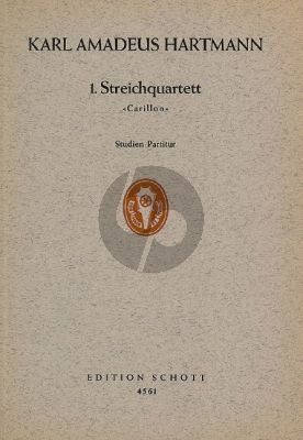 Hartmann Streichquartett No.1 (1933) 'Carillon' (Studienpartitur)