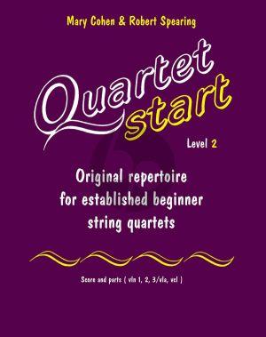 Cohen-Spearing Quartet-Start Level 2 (Original Repertoire for established Beginner) (Score/Parts) (grade 4 +)