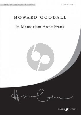 Goodall In Memoriam Anne Frank SATB-Piano