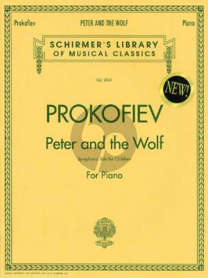 Prokofieff Peter and the Wolf Op.67 for Piano and Narrator (This is the composer's own reduction for solo piano, with narrator's text in English, French and Spanish)