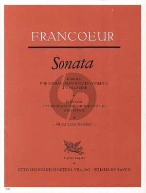Sonate d-moll Sopranblockflöte-Bc