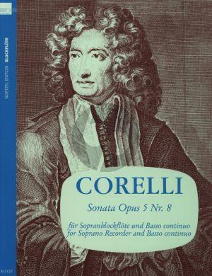 Corelli Sonate a-moll Op.5 No.8 fur Sopranblockflote und Klavier (edited by Fritz Koschinsky)