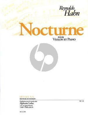Hahn Nocturne Violin/Piano