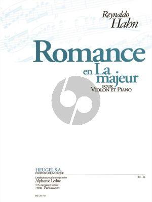 Hahn Romance A-majeur Violon-Piano