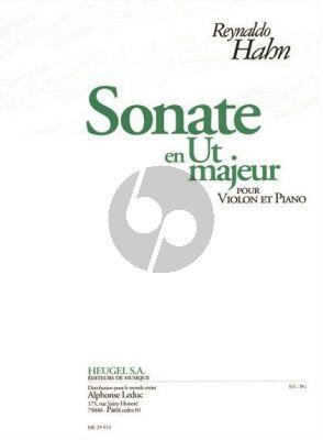 Hahn Sonate Ut-majeur Violon et Piano