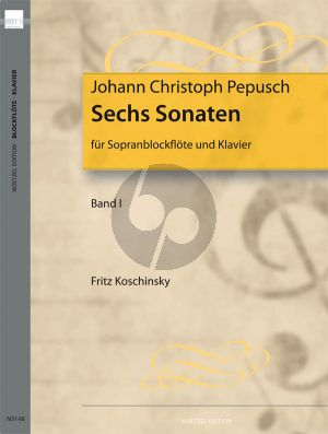 6 Sonaten Vol.1 Sopranblockflöte und Klavier