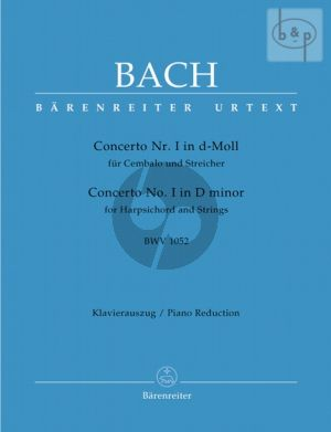 Concerto No.1 d-minor BWV 1052 (Harpsichord- Strings) (piano red.)