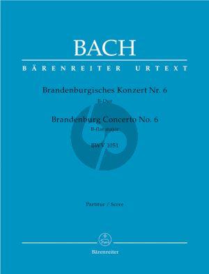 Bach Brandenburgisches Konzert No.6 B-Dur BWV 1051 Orchester Partitur (Heinrich Besseler) (Barenreiter-Urtext)