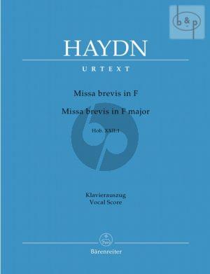 Missa Brevis F-dur Hob.XXII:1 (Sopr.Solo-SATB- Orch.)