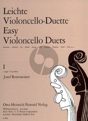 Rentmeister Leichte Violoncello Duette Vol.1 2 Violoncellos