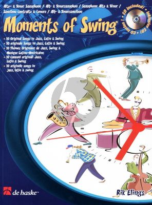 Elings Moments of Swing Alto Sax. or Tenor/Sopr. (bk-Cd) (interm.-adv.)