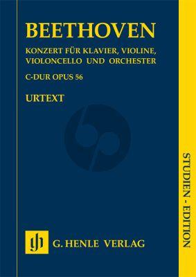 Beethoven Concerto C-major Op.56 ((Triple Concerto) Piano-Vi.-Vc.-Orch.) (Study Score) (Henle-Urtext)