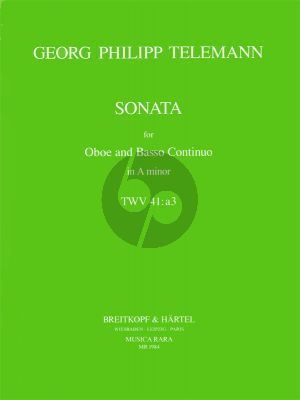 Telemann Sonata a-minor TWV 41:a3 (from Getreue Music-Meister) (1728) Oboe-Bc (Edward Higginbottom and Peter Still)