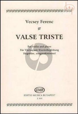 Valse Triste Violin and Piano