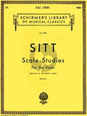 Sitt Scale Studies Violine (Appendix to Schradieck's Scales)