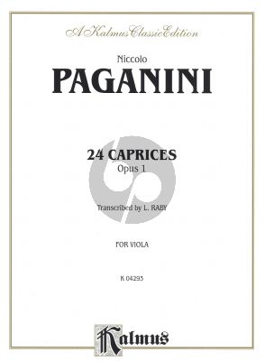 Paganini 24 Caprices Op.1 Viola